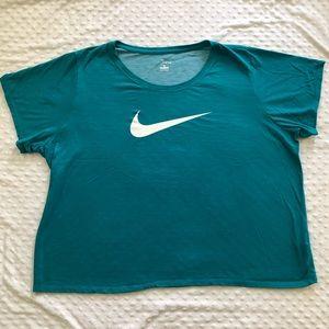 Nike tee Dri fit t shirt aqua teal womens 3X 3XL